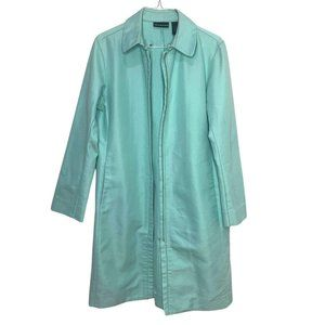 DKNY Jeans Mint Trench Coat Denim Jacket Fitted